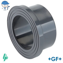 Flange adaptor serrated PVC-U