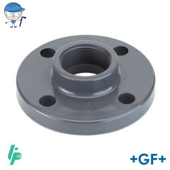 Threaded fixed flange Rp PVC-U