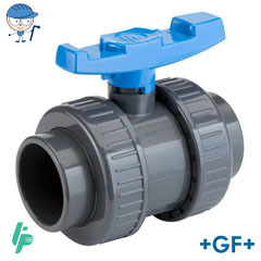 Ball valve with solvent cement sockets PVC-U