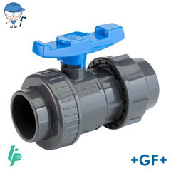 Ball valve with compression fitting PVC-U