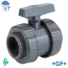 Ball valve with threaded sockets Rp PVC-U