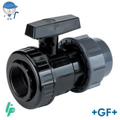 Valve with compression fitting PVC-U