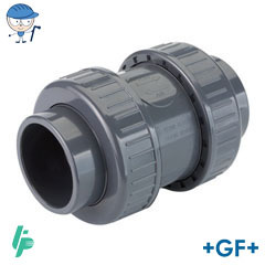 Check valve With solvent cement sockets PVC-U