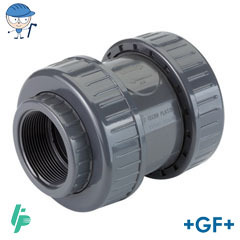 Check valve with threaded sockets Rp PVC-U