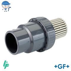 Foot valve S/W PVC-U with PP screen