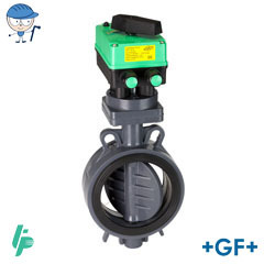 Butterfly valve electric 24V AC PVC-U