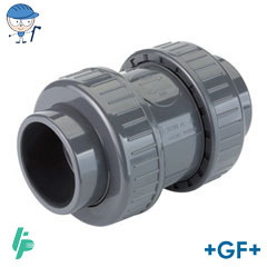 Air release/foot valve with solvent cement sockets PVC-U