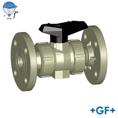 Ball valve type 546 With fixed flanges PP-H
