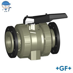 Ball valve type 546 With backing flanges PP-H