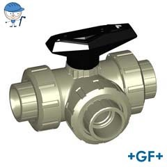 3-Way ball valve type 543 PP-H