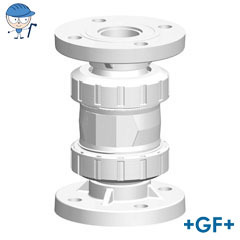 Check valve type 561 With fixed flanges metric PVDF