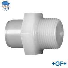 Standard adaptor nipple male thread metric R pvdf