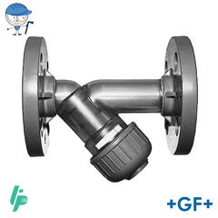 Line strainer type 305 PVC-U with fixed flanges