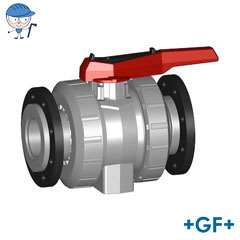 Ball valve type 546 PVC-C With backing flanges