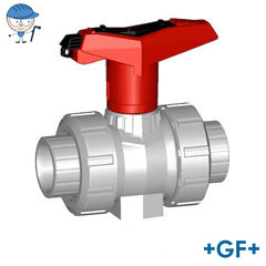 Ball valve type 546 PVC-C With lockable handle