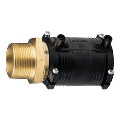 Transition coupler electrofusion PE/brass FE SDR11