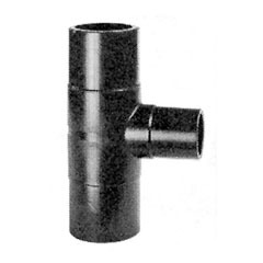 Tee 90° reduced PEHD SDR17 with long spigot ends