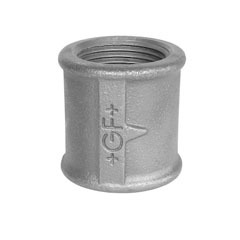 Socket, right and left hand thread, galvanized