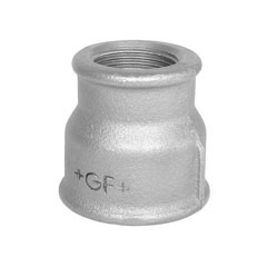 Socket, reducing, galvanized FI x FI