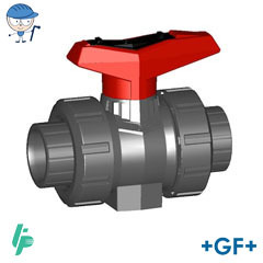 Ball valve type 546 PVC-U With threaded sockets Rp
