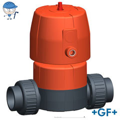 Diaphragm valve DIASTAR 6 PVC-U FC (Fail safe to close)