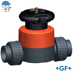 Diaphragm valve type 514 PVC-U With solvent cement sockets metric