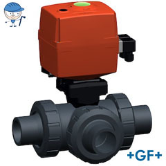 3-Way ball valve type 167 Horizontal/L-port 100-230V