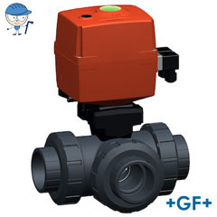 3-Way ball valve type 167 Horizontal/T-port 24V