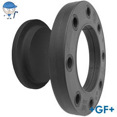 Blanking flange set PE Combined jointing face flat and serrated metric